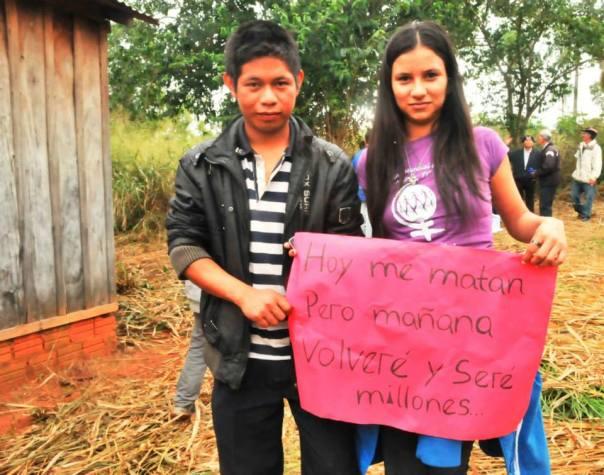 a un año de la masacre de Curuguaty en Paraguay, por defender sus derechos su TIERRA.....