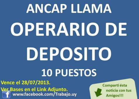 LLAMADO  DE ANCAP SUERTE!!!!!